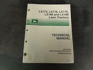John deere lx172,lx176,lx178 & lx188 lawn tractors operators.