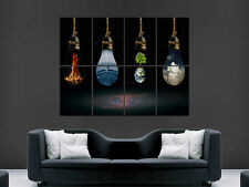 ELEMENTS EARTH AND FIRE AIR POSTER SCIENCE ART HUGE  LARGE PICTURE GIANT