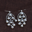 thumbnail 1 - B11-Oriental-Earrings-White-Freshwater-Pearls-And-Sterling-Silver-925