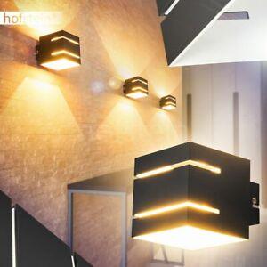 Up Down Wand Lampen Wohn Schlaf Zimmer Beleuchtung Flur Dielen Strahler schwarz