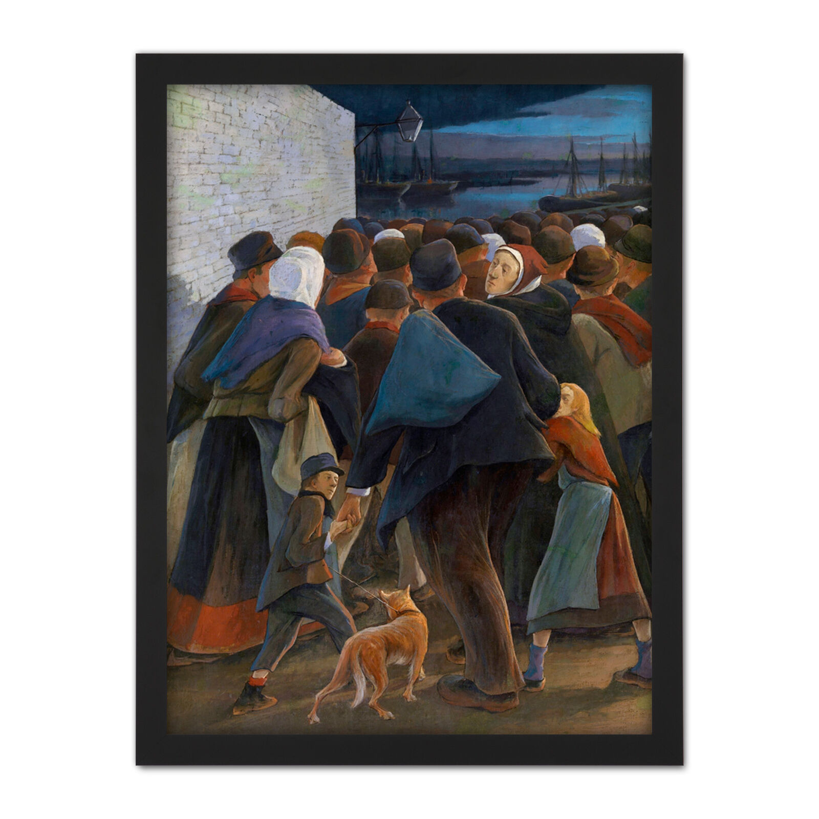 Laermans Emigrants To The Port Crowd Painting Large Framed Kunst Drucken