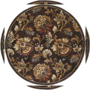 Tayse Rugs Festival Brown Floral Round