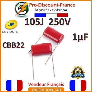 Lot-Condensateur-1-F-1uF-105J-250V-Electrolytique-Polypropylene-CBB-CBB22-1000nf
