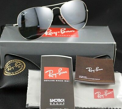 e0ed6b44c0 Ray Ban Sunglasses Aviator RB 3025 Silver W3275 55mm for sale online ...