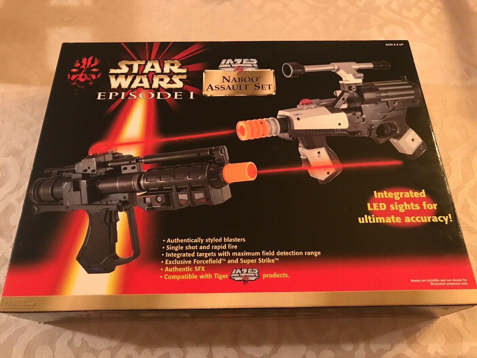STAR WARS EPISODE I LAZER Tag Naboo  Assault Toy Gun Set Model 88-404 NIB