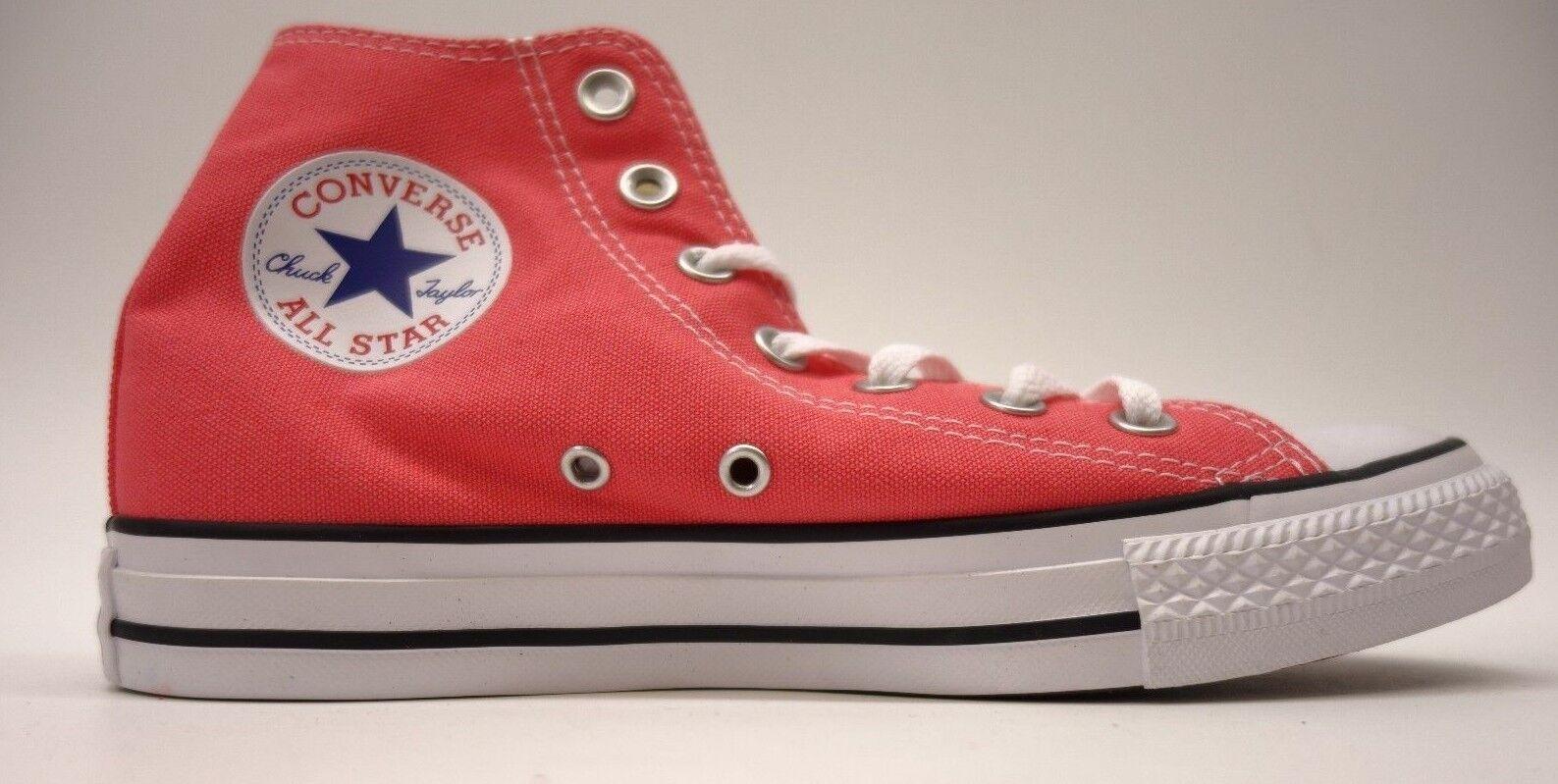 NEU Converse Damenschuhe Coral Chuck Taylor All Star High Top Leder Schuhes Größe 7