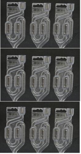 9x Gärröhrchen Gärrohr Kunststoff für Gummistopfen