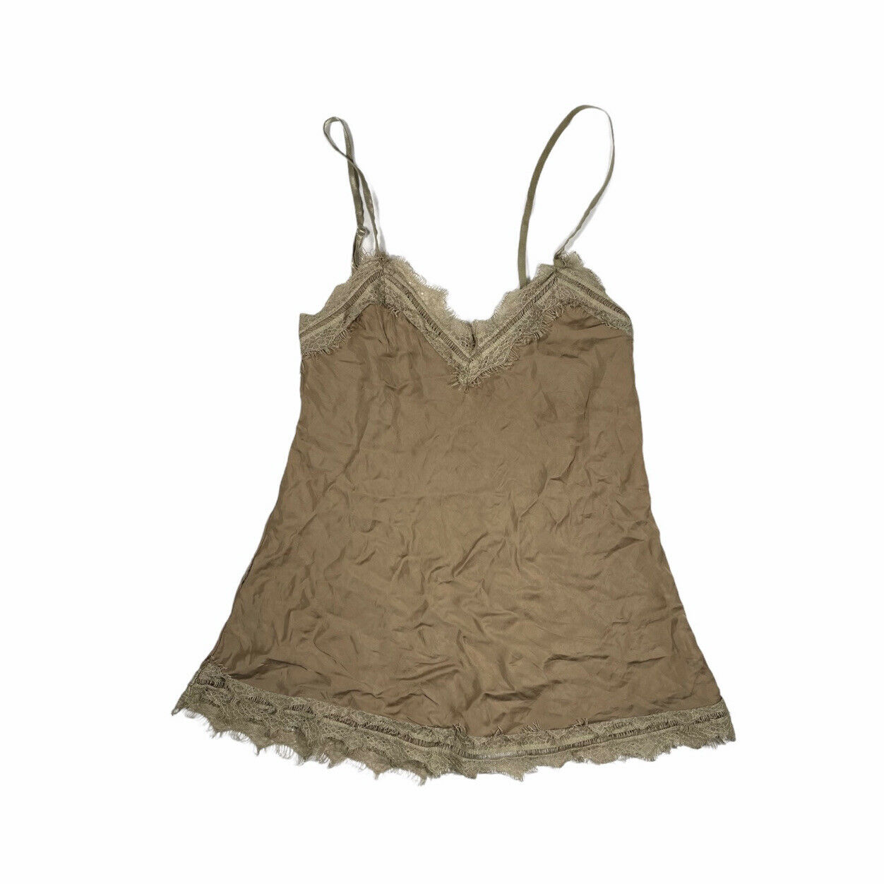 Vintage earthy lace cami fairycore - image 1