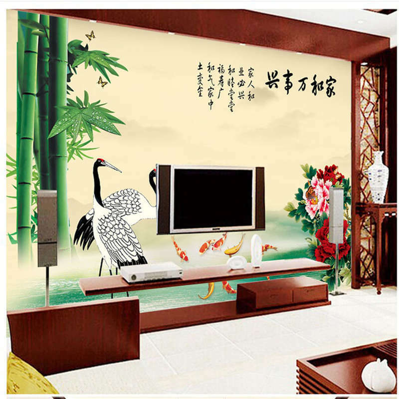 Red-crowned Crane  3D Full Wall Mural Photo Wallpaper Printing Home Kids Decor