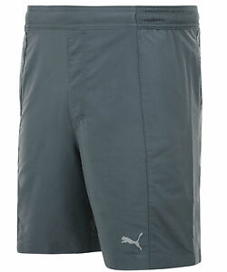 New-Mens-PUMA-PR-Cross-7-034-Training-Shorts-Grey-Sports-Gym-Casual-Running