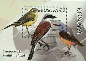 Kosovo-Stamps-2019-Europa-CEPT-National-Birds-Block-Souvenir-sheet-MNH