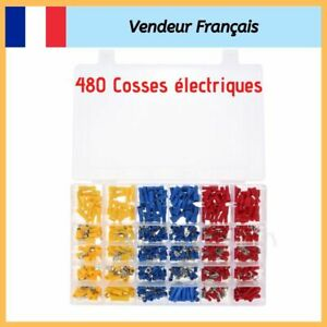 480-Cosse-Electrique-Connecteurs-Isolees-a-sertir-Assortiment-Male-Femelle-NEUF