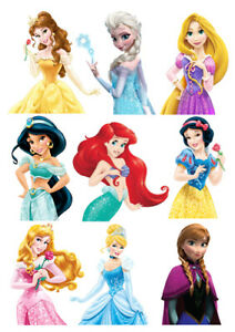 Disney-Princess-characters-set-of-decoration-ICING-WAFER-edible-cake-topper-A4