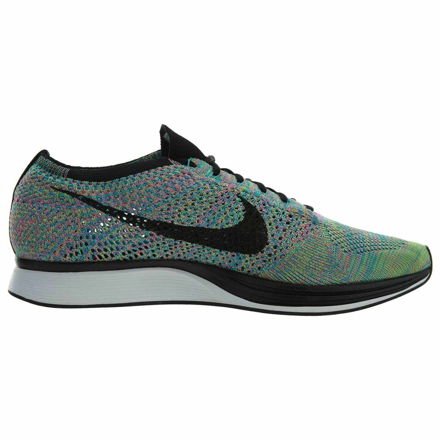 Nike Flyknit Racer Mens 526628-304 Rainbow Multi Color Running Shoes Comfortable Wild casual shoes