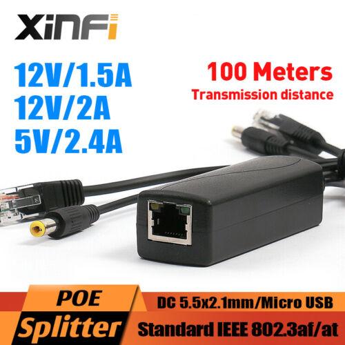 48V to 5V 12V Active Isolated PoE Splitter IEEE802.3af//at 12v Waterproof