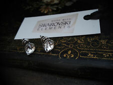 Crystal Heart Stud Earrings Made with Swarovski Elements