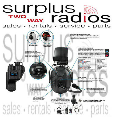 Adapter Motorola XTS5000 XTS3000 XTS2500 XTS1500 Pryme Bluetooth Speaker Mic