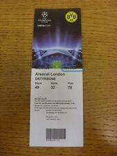 13/09/2011 Ticket: Borussia Dortmund v Arsenal [Champions League] (folded). Than