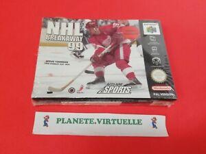 NHL BREAKAWAY 99 NINTENDO 64 N64 PAL EUR 🌟 NEUF SOUS BLISTER !