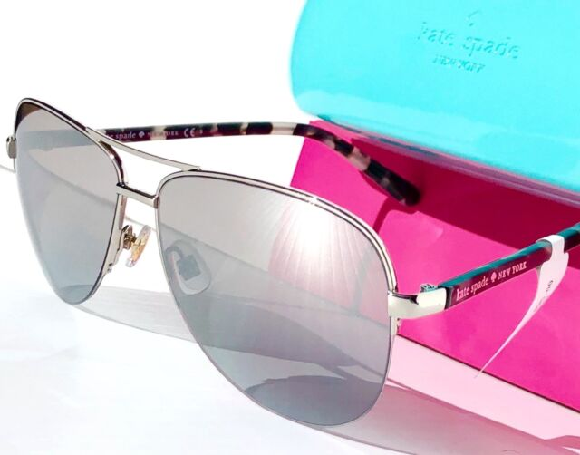 788142cbe93 NEW  KATE SPADE BETHANN in Silver 57mm Aviator w Mirror lens Women s  Sunglass