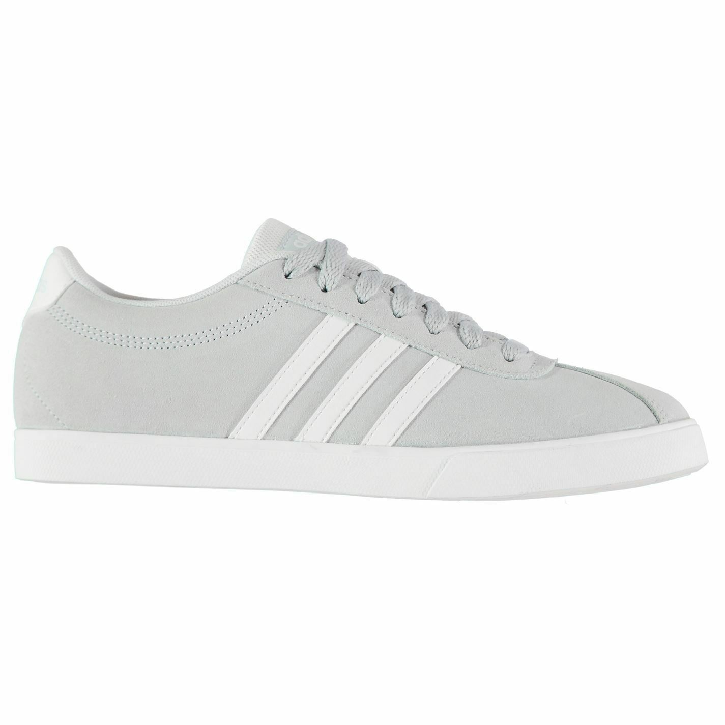 Adidas Court Set Suede Trainers damen Blau Weiß Sports Trainers Turnschuhe