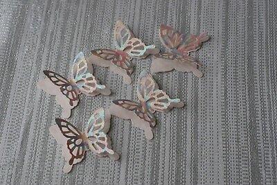 10 Grandi 3d Arcobaleno Pastello Farfalle Decorazioni Per Decorazione Tavola Coriandoli-mostra Il Titolo Originale