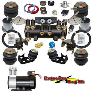extreme universal fbss air bag suspension kit promo new ebay. Black Bedroom Furniture Sets. Home Design Ideas