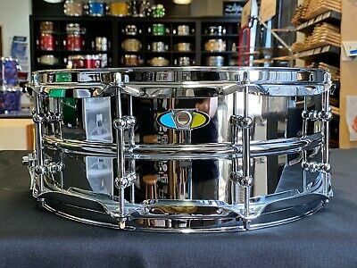 Ludwig Snare Drum Supralite 6.5x14 Chrome over Steel Beaded Shell w// Tube Lugs