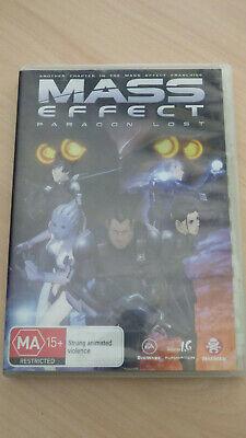 Mass Effect Paragon Lost Dvd Region 4 Japanese Anime English