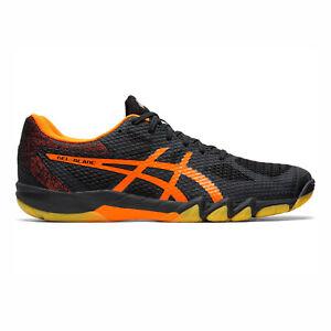 maníaco función pase a ver  Asics Gel-Blade 7 [1071A029-001] hombres Badminton Zapatos Negro/Naranja  chocante | eBay