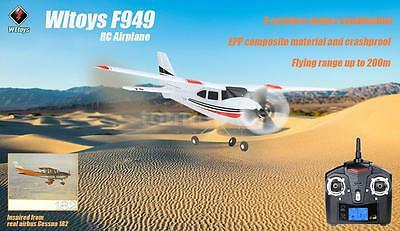 100% Cool New Wltoys F949 2.4G 3CH RC Airplane Fixed Wing Plane Outdoor RTF