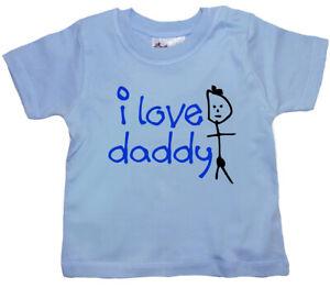 "SALE ITEM Light Blue T-Shirt 3/4 yrs ""I Love Daddy"" End of Line item."