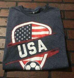 FIFA-2014-World-Cup-Brasil-Soccer-Team-USA-T-Shirt-Men-039-s-Size-Small