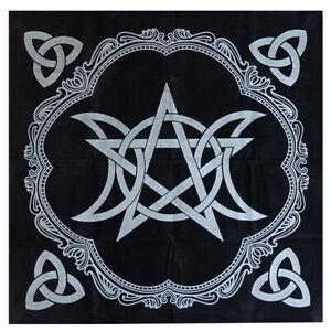 1PC-Art-Tarot-Pagan-Altar-Cloth-Black-Flannel-Tablecloth-Divination-Tablecloth