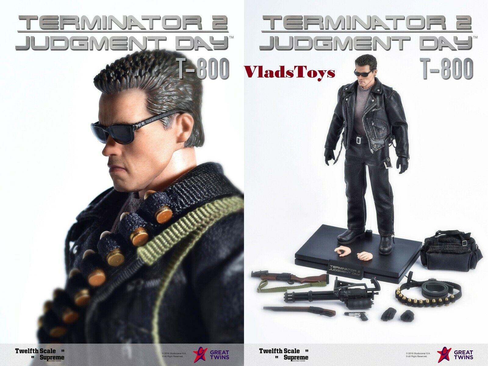 Terminator 2 Judgement Day T-800 Figura Arnold negroenegger 1 12 Gran Twins