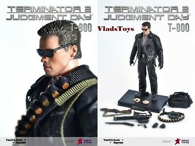 Terminator 2 Judgement Day T-800 Figure Arnold Schwarzenegger 1//12 Great Twins