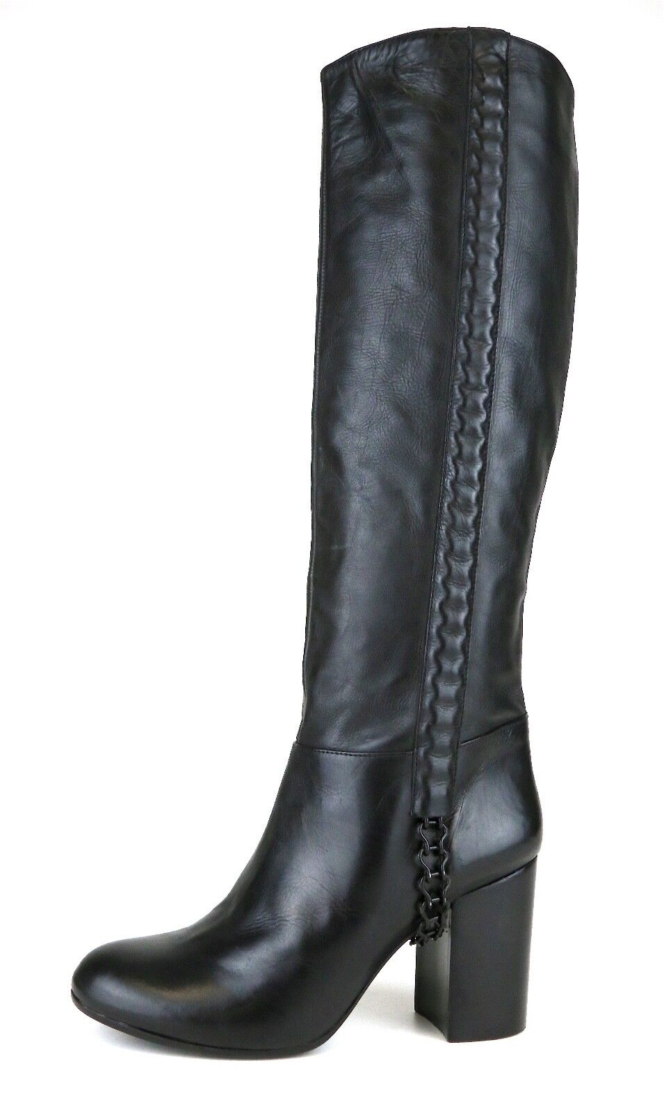 Vince Camuto Signature Kisha High Pelle Boot Nero Donna Sz 6.5 M 5222