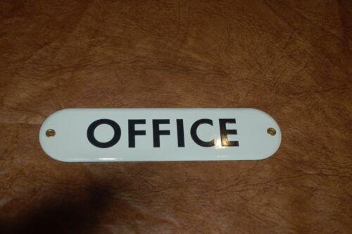 """oval /""""OFFICE/"""" Porcelain Metal  Sign"""