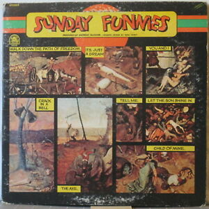 SUNDAY-FUNNIES-s-t-LP-1970s-U-S-Rock-on-Rare-Earth-in-Gatefold-cover
