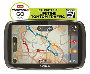 TomTom-GO-5000-M-Europa-XXL-HD-Traffic-Free-Lifetime-3D-Maps-IQ-Tap-amp-Go-GPS-WOW
