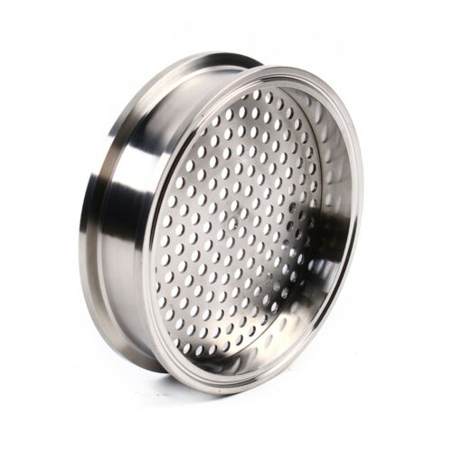 """6/"""" 168mm Stainless Sanitary Filter Plate Tri-Clamp Ferrule FlangeFit HomebrewNew"""