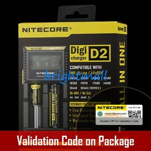 NEW 2016 VERSION NITECORE D2 Digi charger For 18650 14500 18350 Li-ion & Ni-MH
