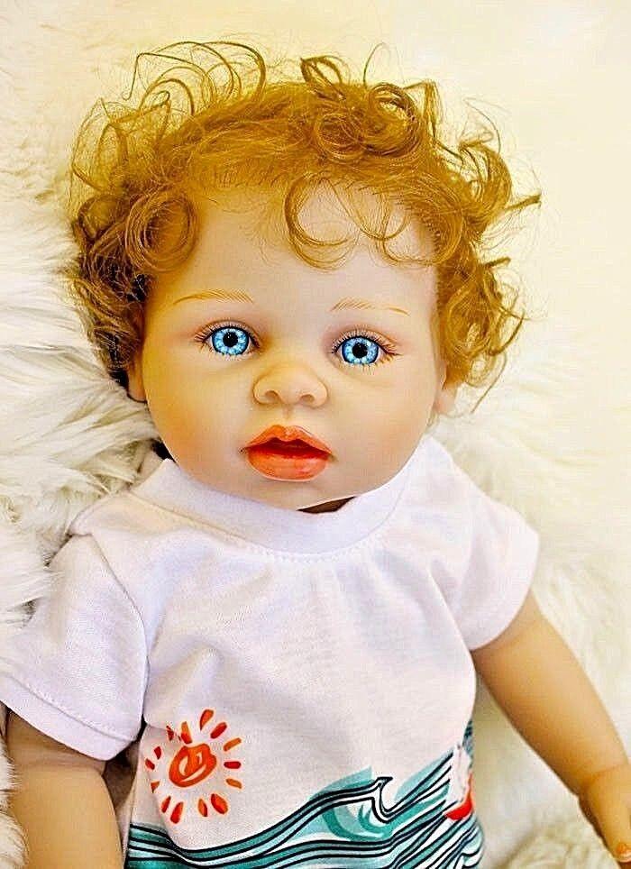 Completo De Silicona Vinilo Muñeca Bebé Niño Reborn Realista recién nacidos Juguete Regalo 45 Cm un