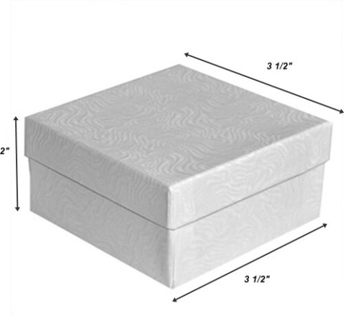 White Swirl Cotton Filled Jewelry Gift Box Jewelry Craft Collectibles Packaging