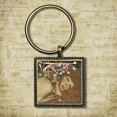 Gustav Klimt Keyring TREE OF LIFE Gustav Klimt Handmade Keyring Unique Gift