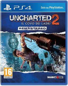 UNCHARTED 2 IL COVO DEI LADRI PS4 - PLAYSTATION 4 - ITALIANO - REMASTERED