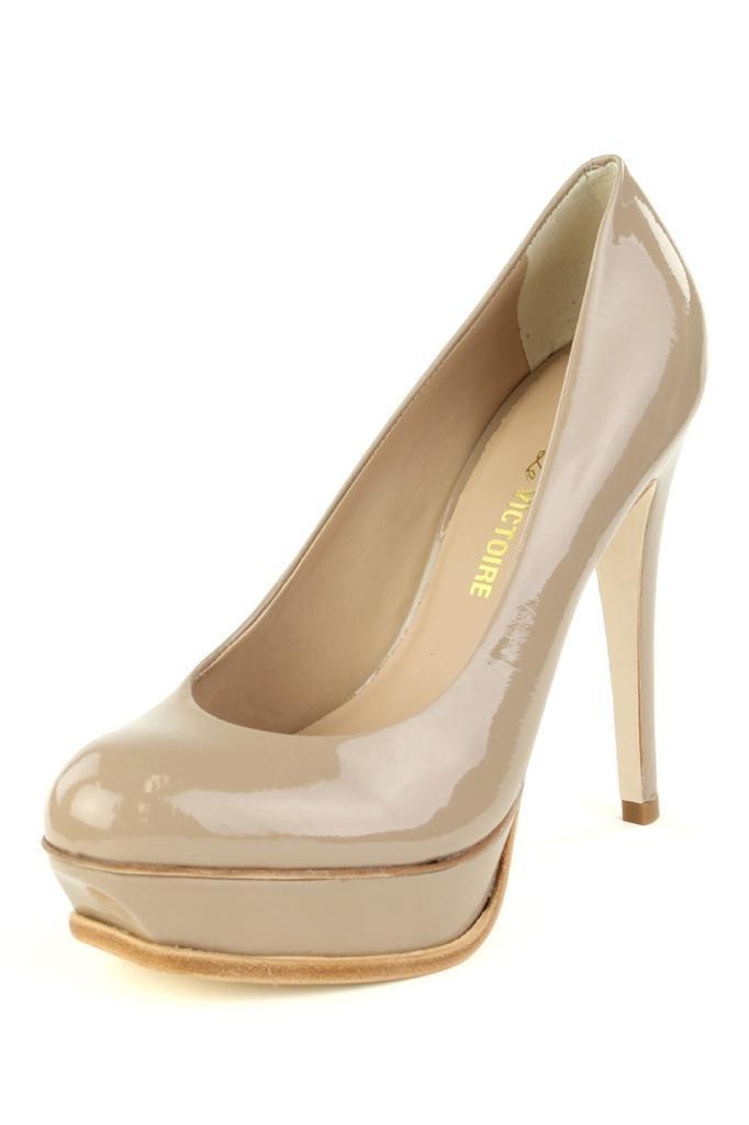 vendita online sconto prezzo basso Pour La Victoire Donna  Portia - TAN TAN TAN Patent Leather Platform Pump High Heels  con il prezzo economico per ottenere la migliore marca