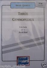 THREE GYMNOPEDIES - Satie - Brass Quintet Sheet Music Score & Parts NEW