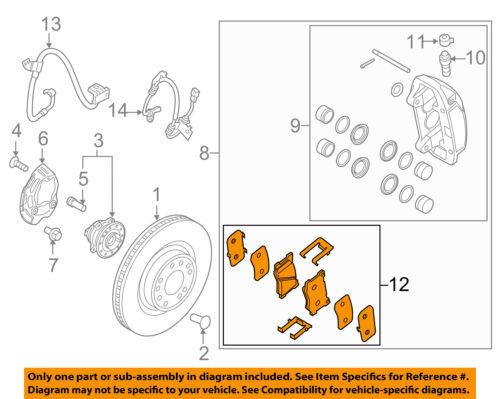 HYUNDAI OEM 2015 Genesis Brake-Front Pads 58101B1A20