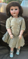 """Antique Bisque Armand Marseille Doll 19"""" Ball Jointed Body antique clothing"""